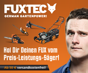 Aktuelle Rabattaktion bei Fuxtec Gartenwerkzeuge Made in Germany